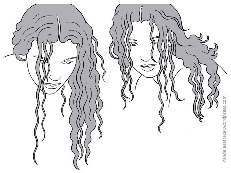 comment dessiner cheveux